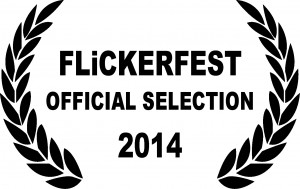 Flickerfest 2014 Official Selection Laurels black on white
